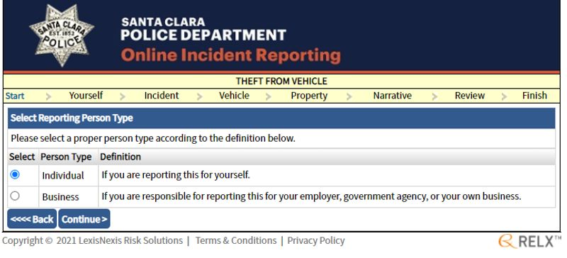 online reporting form2