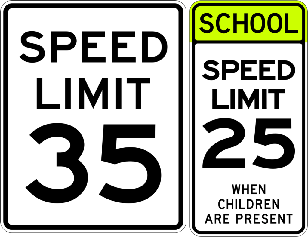 two speed limit